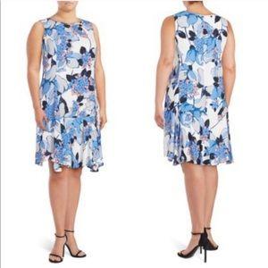 IVANKA TRUMP Floral Ruffle Tiered Dress SIZE 14